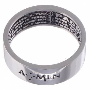 Prayer rings: Prayer ring Our Father silver internal engraving in Italian AMEN