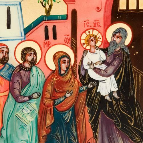 Icona sacra Presentazione di Gesù 6x9 Russia s3