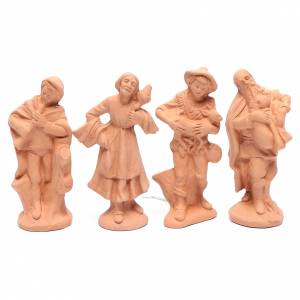 Presepe terracotta naturale 15 statuine 15 cm s5