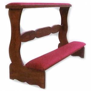 Prie-Dieu pour mariés en bois 85x120x50 cm s1