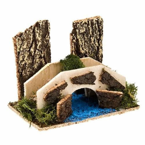 Puente belén con rio ambientación belén s1
