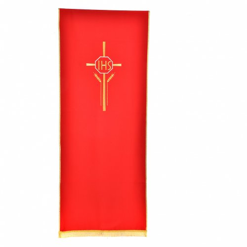 Pulpit cover with IHS cross ears of wheat, polyester s4