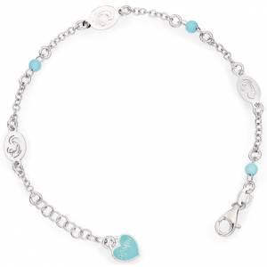 Pulseras AMEN: Pulsera AMEN Virgen María perlas azules Plata 925