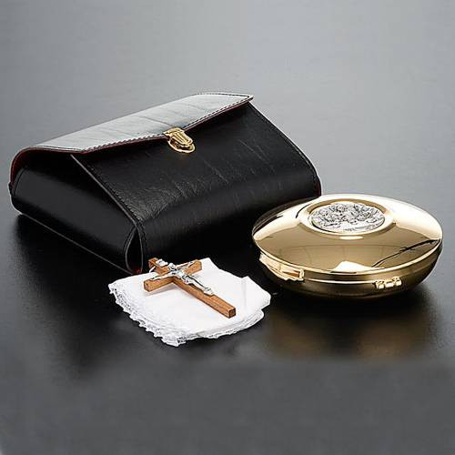Pyx burse in leather with gold-plated pyx, 12 cm s3