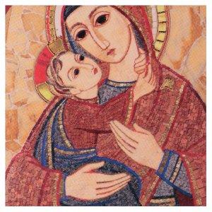 Quadretto Madonna con Bambino 5x5 cm Rupnik s2
