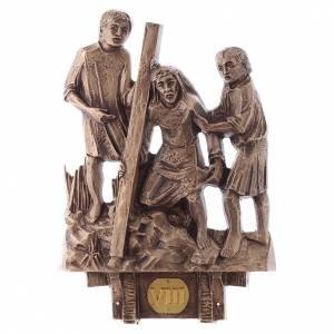 Stazioni Via Crucis 14 quadri bronzo s8