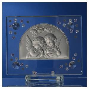 Quadro Battesimo arco Angelo Swarovski Rosa s4