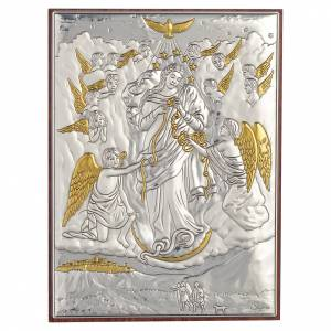 Quadro Madonna scioglie i nodi Argento dorato 13x18 s1