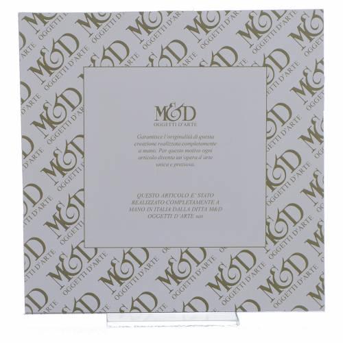 Quadro Nascita rosa - lilla 17x17 cm s3