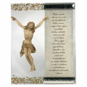 Bomboniere e ricordini: Quadro Scultura Cristo Argento Cristallo preghiera