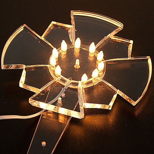 Aureola in plexiglass luminosa Lampadine s2