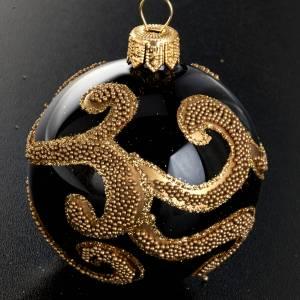 Árbol de Navidad, bola de vidrio negro decoración s2