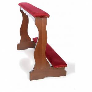 Ambones, reclinatorios, mobiliario religioso: Reclinatorio esposos en haya y terciopelo