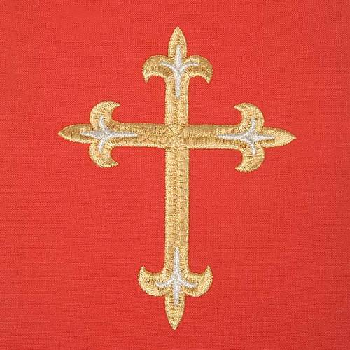 Red chasuble with Holy Spirit and blazes s7