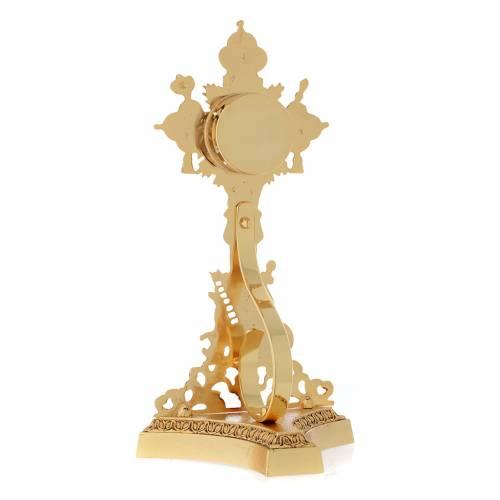 Reliquiario della Santa Croce ottone fuso oro s4