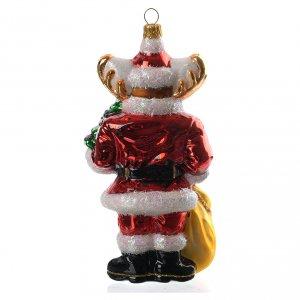 Adornos de vidrio soplado para Árbol de Navidad: Reno con regalosadorno vidrio soplado para Árbol de Navidad