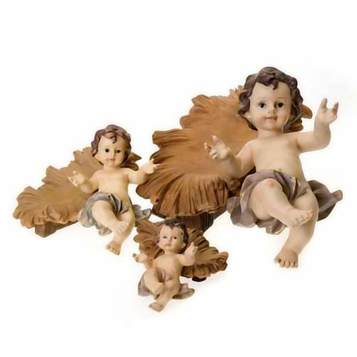 Resin Baby Jesus statue with cradle s4