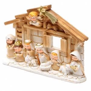 Resin and Fabric nativity scene sets: Resin hut for nativity scene10x15 cm