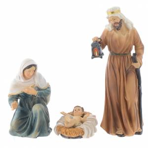 Resin nativity figurines, 8 pieces for a nativity of 20.5cm s2