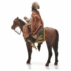 Pesebre Angela Tripi: Rey Mago moreno a caballo Belén 13 cm Angela Tripi