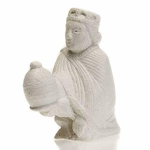 Rey Mago Pérsico para Pesebre de Otoño de piedra blanca s1