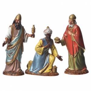 Reyes Magos con costumbres históricos, 3 pdz, para belén de Moranduzzo con estatuas de 10 cm s1