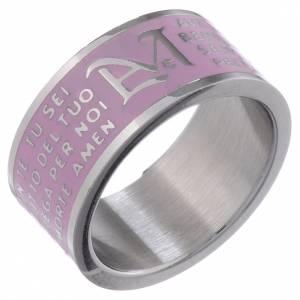 Gebetsringe: Ring Avemaria INOX LUX rosa