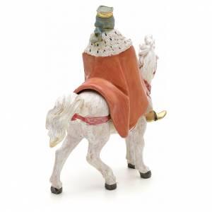 Roi Mage blanc sur cheval crèche Fontanini 12 cm s3