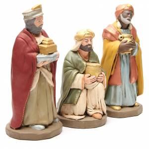 Rois Mages terre cuite décorée crèche de 30 cm s3