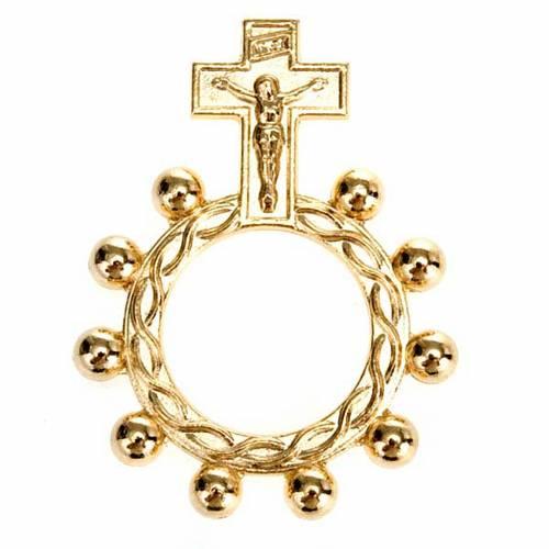 Rosario anillo scout plateado o dorado s4