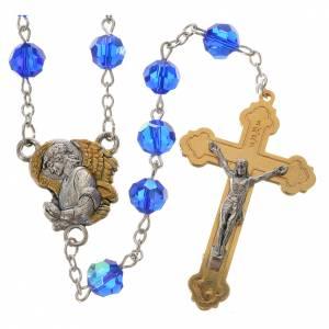 Rosari vetro: Rosario Arcangelo cristallo 8 mm