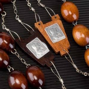 Rosario capoletto legno grano ovale 30 mm s2
