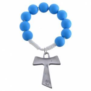 Rosari decina: Rosario decina fimo blu tau