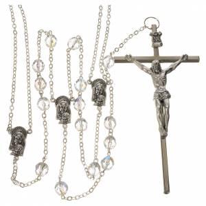 Rosari vetro: Rosario Doppio Matrimonio imitazione cristallo 8 mm
