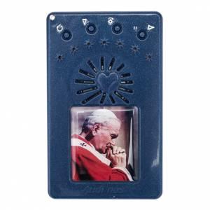 Rosario Elettronico blu Giovanni Paolo II Coroncina s1