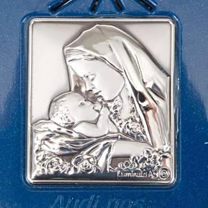 Rosario elettronico blu immagine argento s5
