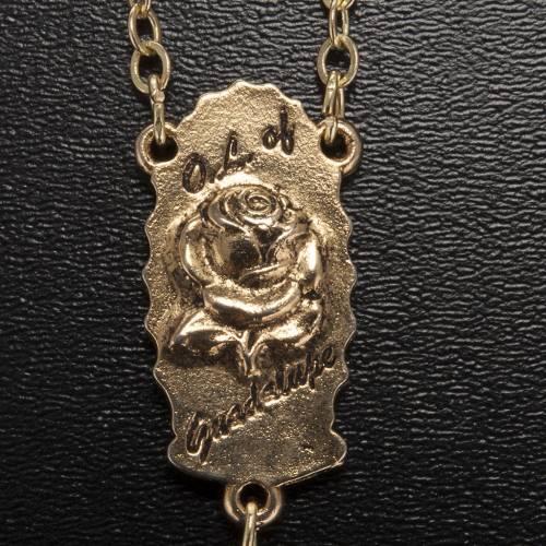 Rosario Ghirelli dorato Nostra Signora di Guadalupe 9 mm s6