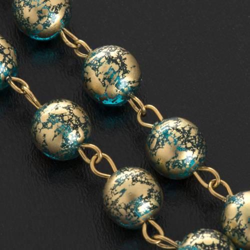 Rosario Ghirelli Gesù Risorto verde oro 8 mm s5