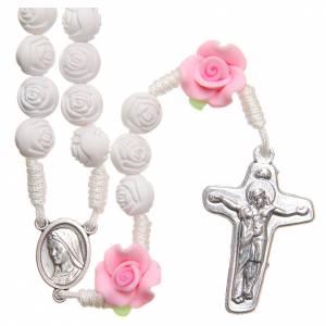 Rosarios y Porta Rosarios Medjugorje: Rosario Medjugorje rosas blancas