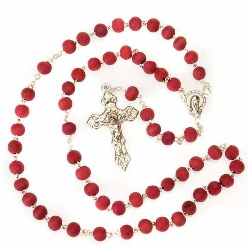 Rosario profumato rosa croce metallo s2