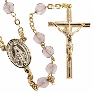 Rosari vetro: Rosario semicristallo color ametista 6 mm