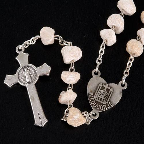 Rosario Virgen de Medjugorje piedra blanca s3