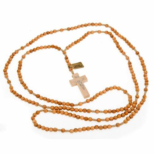 Rosary 20 decades in Olive wood 5 mm s3