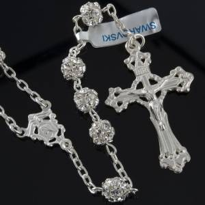 Silver rosaries: Rosary, 800 silver and swarovski, 6mm