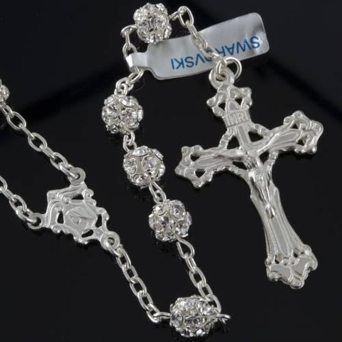 Rosary, 800 silver and swarovski, 6mm s2