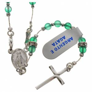 Rosary beads in 800 silver and agate s1