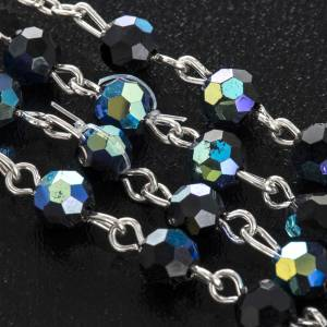 Rosary beads in crystal, 6mm, black s6
