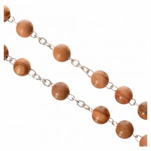 Rosary beads in olive wood, Pope Francis s3