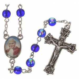 Rosary beads, John Paul II, 6mm assorted colours s4