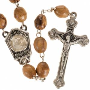 Rosary beads with river Jordan water 9 x 7 mm s1